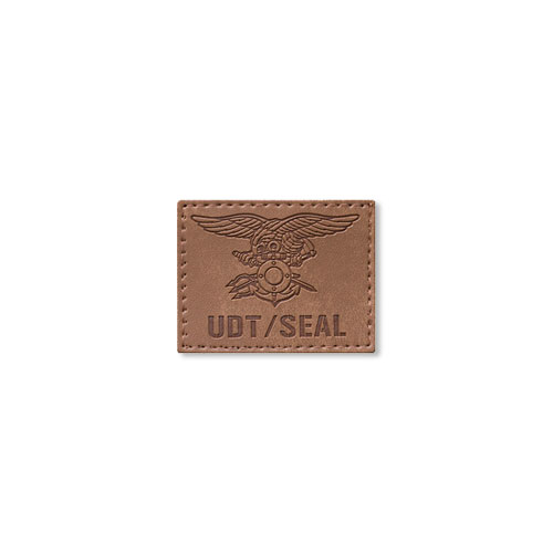 UDT/SEAL Trident Leather Tan_패치_NO101