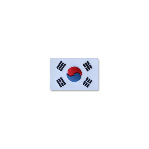 태극기미니PVC_화이트_Korea Flag Mini PVC Patch NO435
