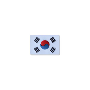 태극기미니PVC_화이트_Korea Flag Mini PVC Patch NO335