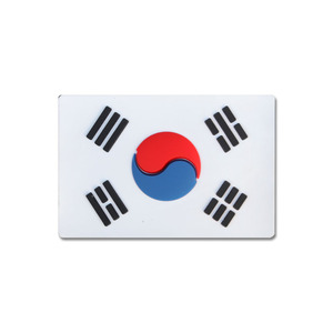 태극기 빅 PVC_WHITE_Korea Flag BIG PVC Patch NO441