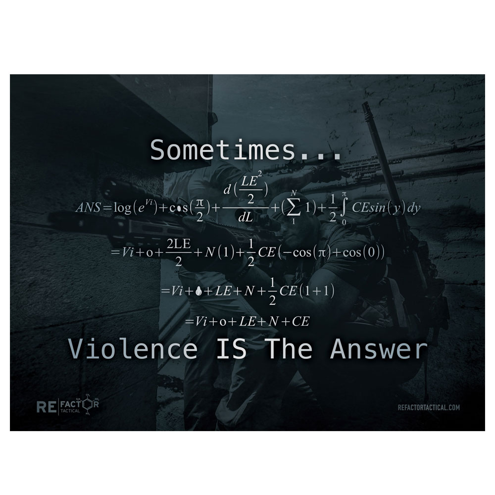 [포스터]Violence is the answer