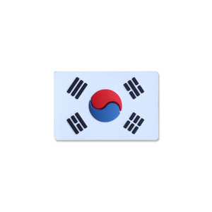 태극기스몰 PVC_WHITE_Korea Flag Small PVC Patch NO440
